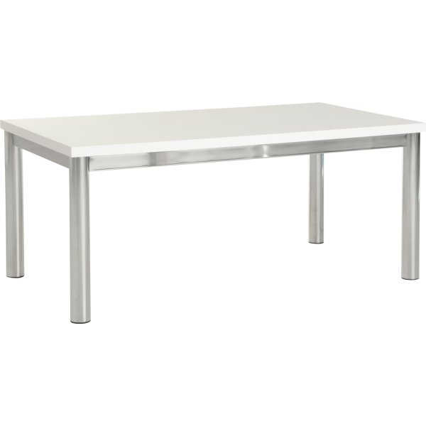 Valufurniture Charisma Coffee Table - White Gloss/Chrome