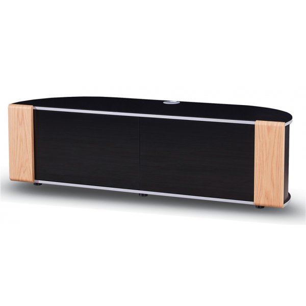 MDA Designs Sirius 1600 Hybrid Oak and Black TV Cabinet