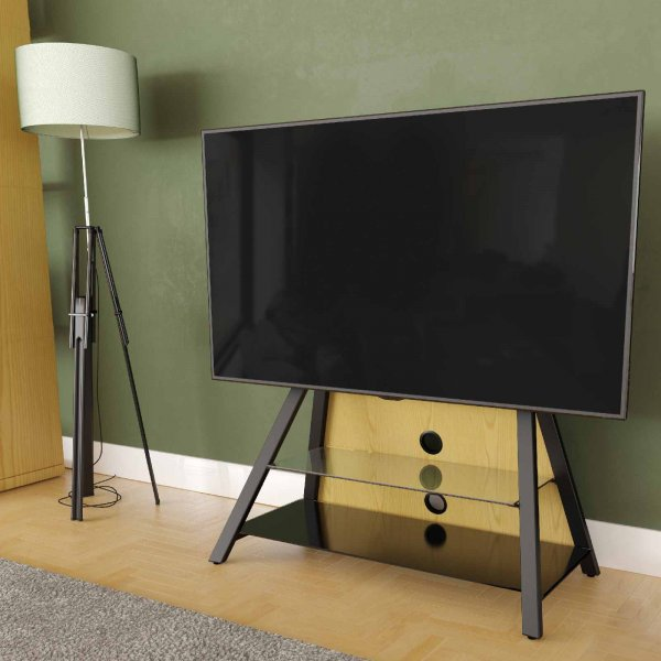 "AVF Options EASL925A Easel Cantilever TV Stand For Up To 65"" TVs - Oak"