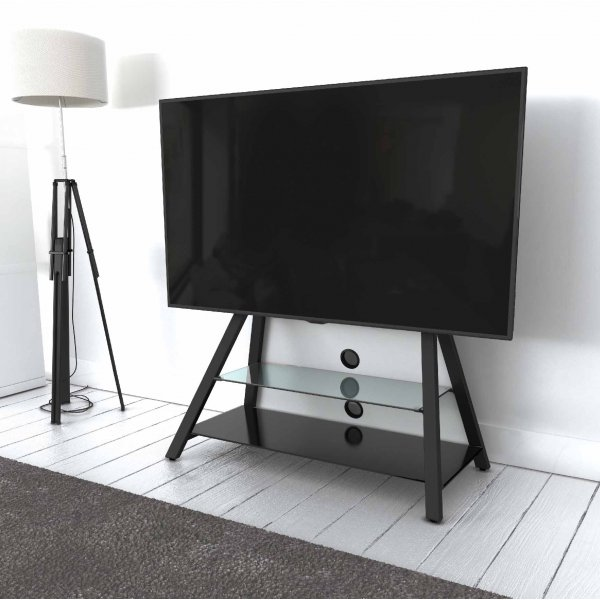 """AVF Options EASL925A Easel Cantilever TV Stand For Up To 65\"""" TVs - White"""