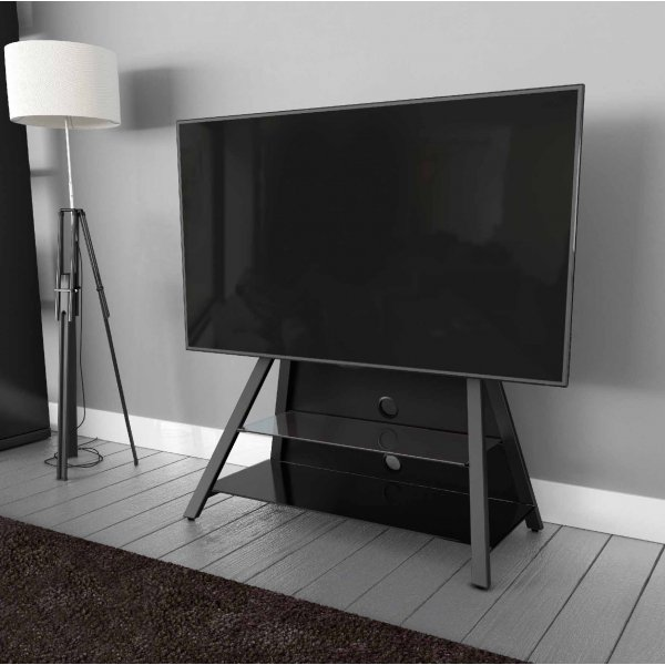 """AVF Options EASL925A Easel Cantilever TV Stand For Up To 65\"""" TVs - Black"""