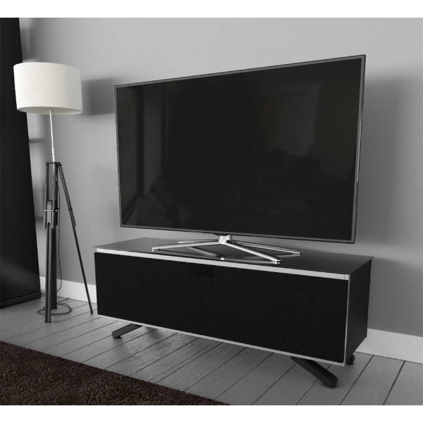 "AVF Options ESC1250A Escape TV Stand For Up To 55"" TVs - Black"