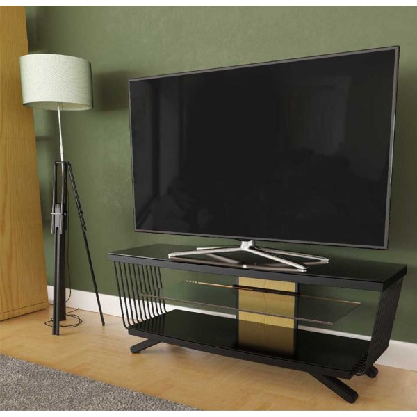 """AVF Options FLW1250A Flow TV Stand For Up To 55\"""" TVs - Oak"""