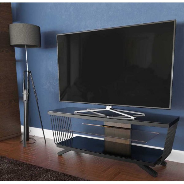 """AVF Options FLW1250A Flow TV Stand For Up To 55\"""" TVs - Walnut"""