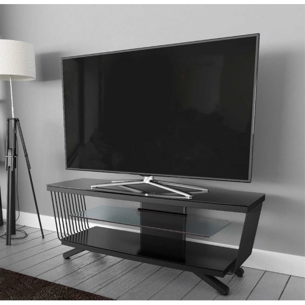 "AVF Options FLW1250A Flow TV Stand For Up To 55"" TVs - Black"