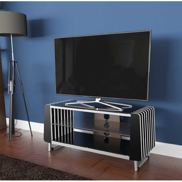 "AVF RIVA1000 Universal TV Stand Unit For Up To 50"" TVs - Black"