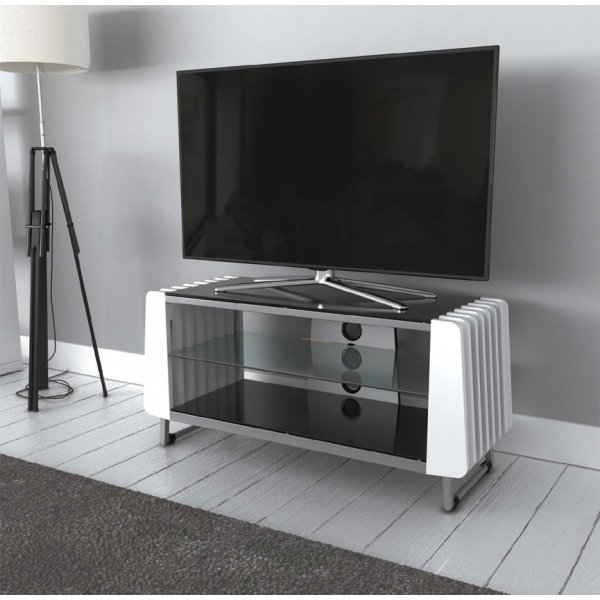 "AVF Options GRV1000A Groove TV Stand For Up To 47"" TVs - White"