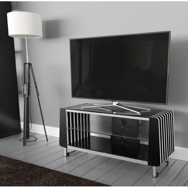 """AVF Options GRV1000A Groove TV Stand For Up To 47\"""" TVs - Black"""