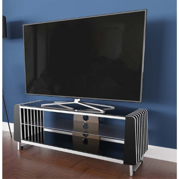 "AVF Options GRV1250A Groove TV Stand For Up To 55"" TVs - Walnut"