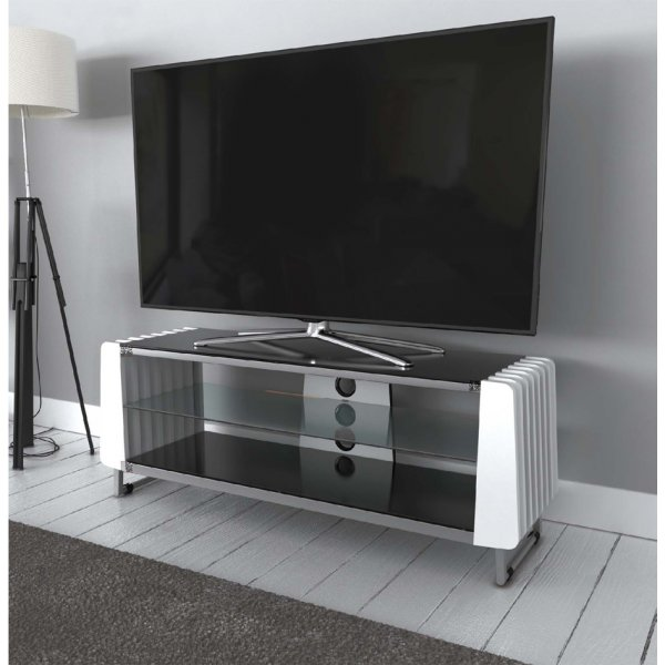 "AVF Options GRV1250A Groove TV Stand For Up To 55"" TVs - White"