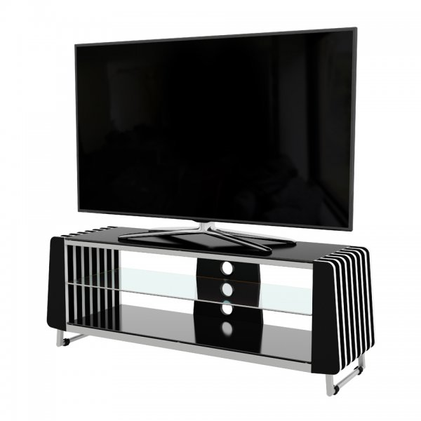 "AVF Options GRV1250A Groove TV Stand For Up To 55"" TVs - Black"