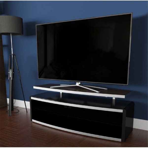 """AVF Options STG1250A Stage TV Stand For Up To 55\"""" TVs - Walnut"""