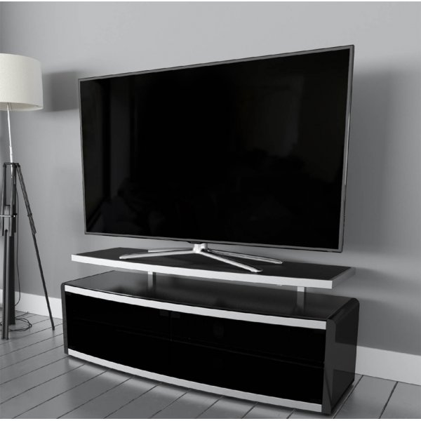 """AVF Options STG1250A Stage TV Stand For Up To 55\"""" TVs - Black"""