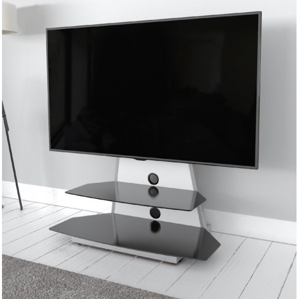 """AVF Options STKL900A Stack TV Stand For Up To 65\"""" TVs - White"""