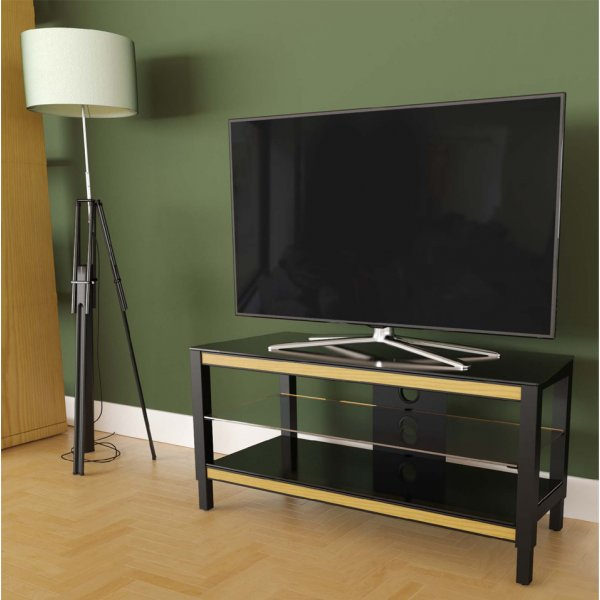 """AVF Options TWS1000A Twist TV Stand For Up To 47\"""" TVs - Oak"""