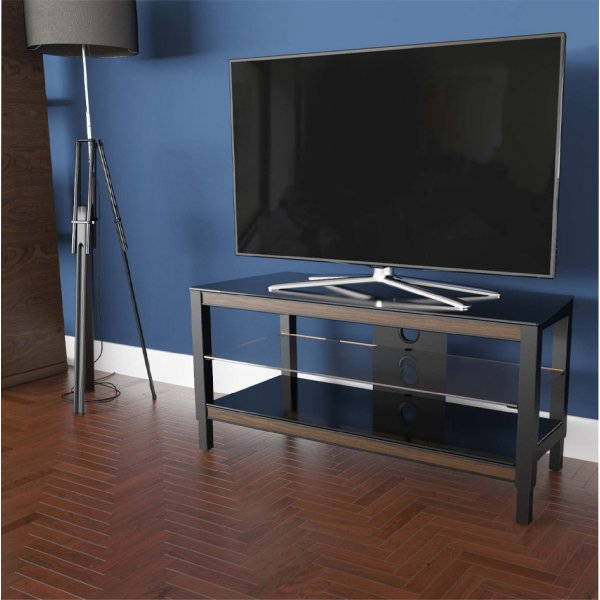 "AVF Options TWS1000A Twist TV Stand For Up To 47"" TVs - Walnut"