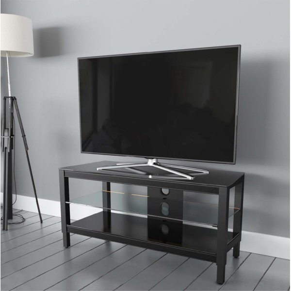 "AVF Options TWS1250A Twist TV Stand For Up To 55"" TVs - Black"