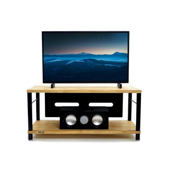 Apollo Storm 10 AV Solid Oak 2 Shelf TV Stand - Oak