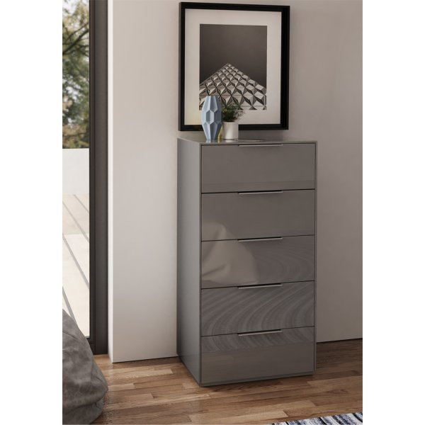 Frank Olsen INTEL PURE High Gloss Grey Tall Chest