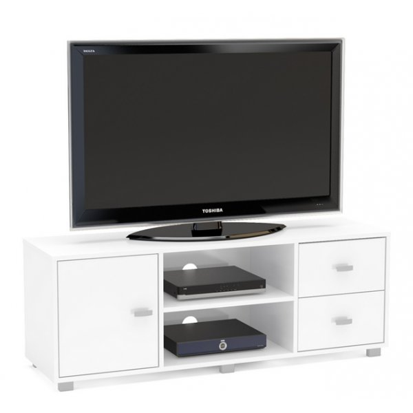 "TNW Hyde TV Stand Unit for TVs up to 65"" - White"