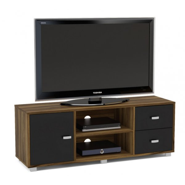 "TNW Hyde TV Stand Unit for TVs up to 65"" - Walnut/black"