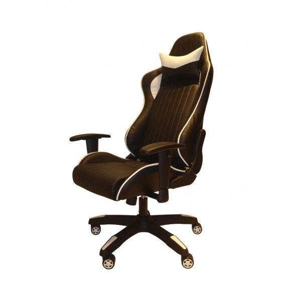 Alphason Senna Modern Gaming Chair - Black/White