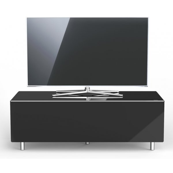 Just Racks JRL1100T Luxury Black TV Stand Cabinet