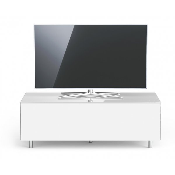 Just Racks JRL1100T Luxury White TV Stand Cabinet