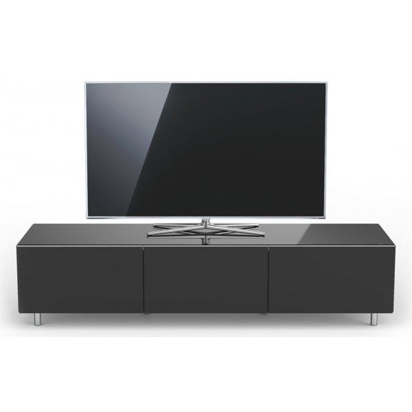 Just Racks JRL1650T-SL Black Gloss TV Cabinet