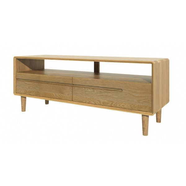 Mason and Bailey Scandic Medium TV Unit Ready Assembled - Oak