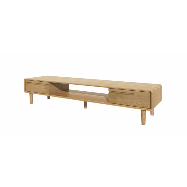 Mason and Bailey Scandic Wide TV Unit Ready Assembled - Oak