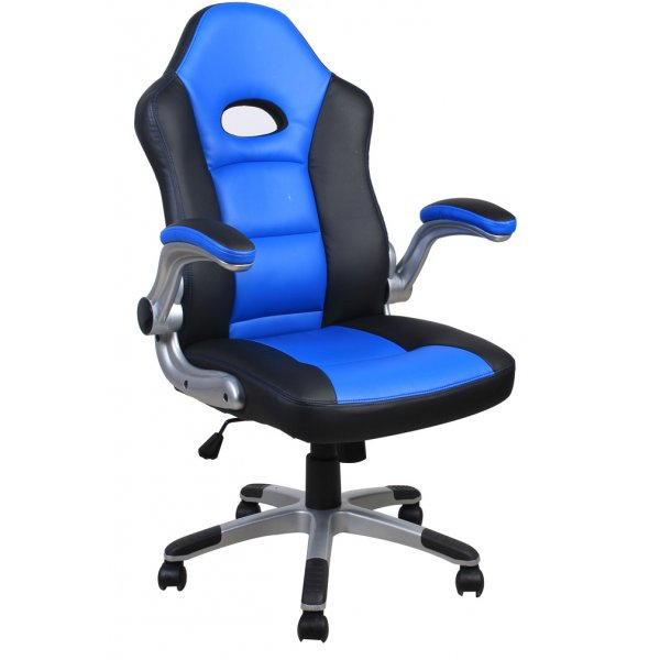 Alphason AOC3311BLU Le Mans Racing Style Gaming Office Chair - Blue/Black