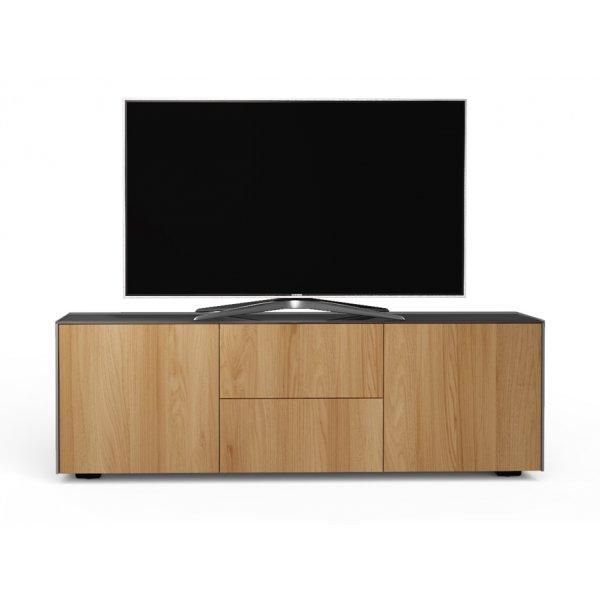 "Frank Olsen INTEL1500 Matt Grey/Oak TV Cabinet For Up To 55\"""