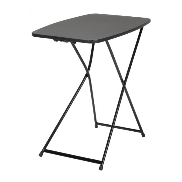 "Dorel 18"" x 26"" Indoor Outdoor Adjustable Height Personal Folding Tailgate Table (2 pack) - Black"