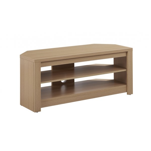 "TNW Memphis Corner TV Stand For Up To 50"" TVs - Oak"