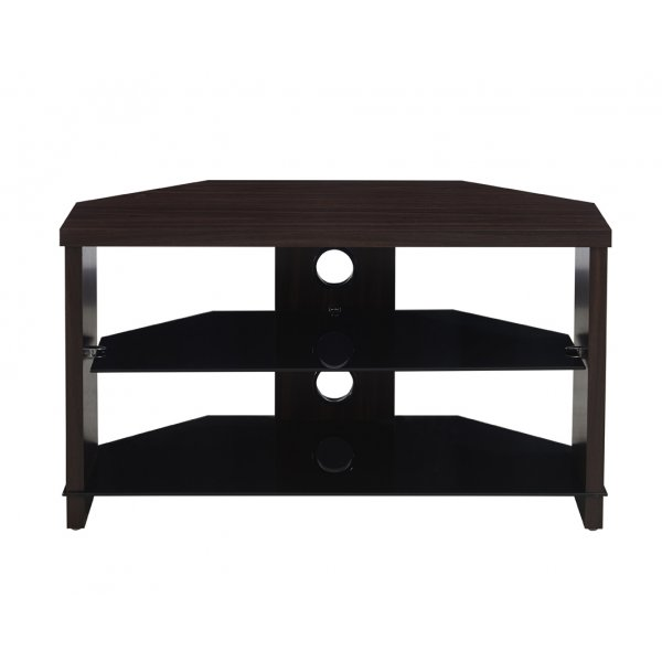 "TNW Montreal Walnut Universal Corner TV Stand For Up To 40"" TVs"