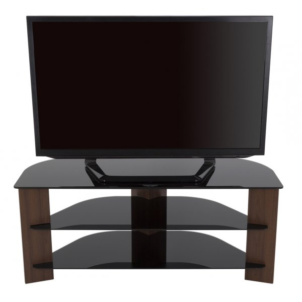 "AVF Varano FS1100VARWB Black and Walnut TV Stand For up to 55"" TVs"