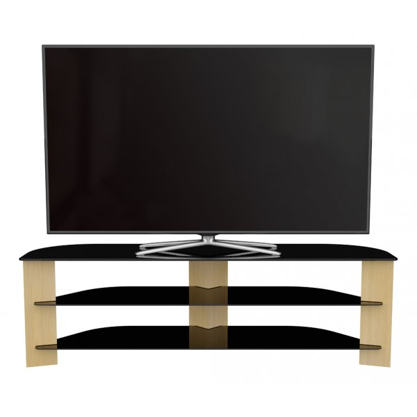 "AVF Varano Black and Oak TV Stand For up to 70"" TVs"