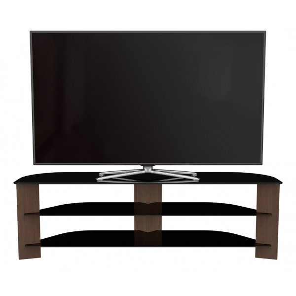 """AVF Varano Black and Walnut TV Stand For up to 65\"""" TVs"""