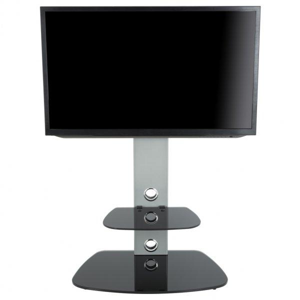 """AVF Lucerne FSL700LUCS Cantilever TV Stand For 32 - 65\"""" TVs - Silver/Black"""