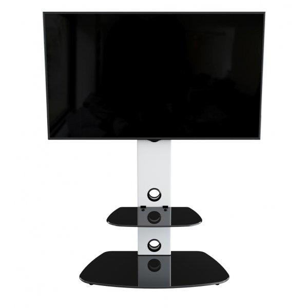 "AVF Lucerne FSL700LUCSW Cantilever TV Stand For 32 - 65\"" TVs - Satin White/Black"