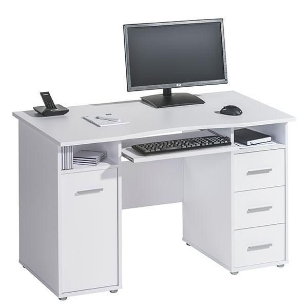 Maja 4029 5539 Camden Computer Desk Workstation - Icy White