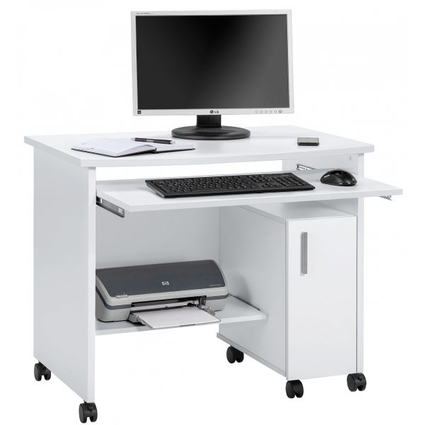 Maja 4035 5539 Websurfer Mobile Workstation with Castors - Icy White