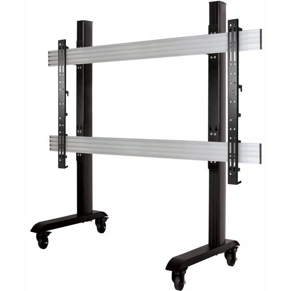 """B-Tech BT8508 Extra Large Trolley Stand For Over 65\"""" TVs and Touchscreens"""
