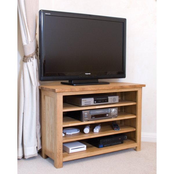 "Opus Oak Corner TV Unit For Up To 47"" TVs"
