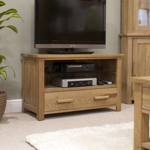 "Solid Oak Opus TV Cabinet For Up To 47"" TVs"