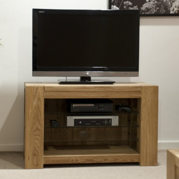 """Solid Oak Trend TV Unit For Up To 47\"""" TVs"""