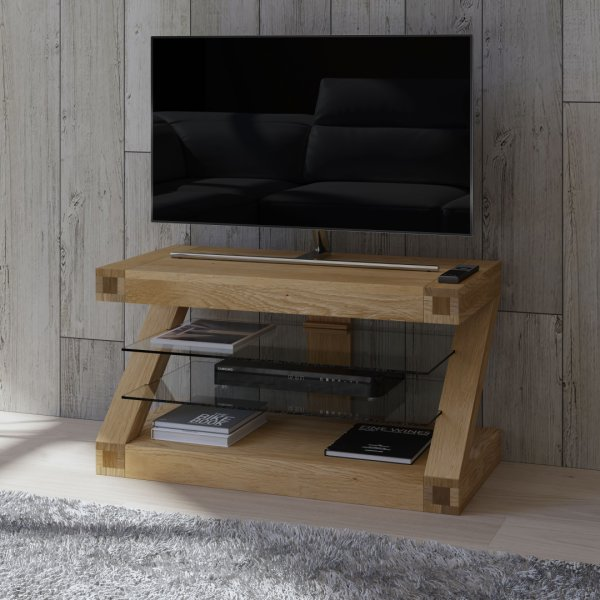 "Solid Oak Z TV Unit For Up To 50"" TVs"