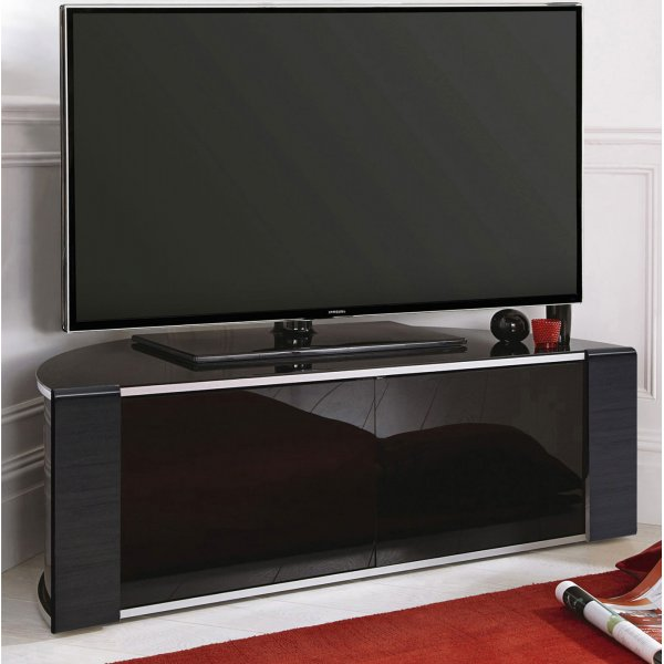 MDA Designs Sirius 1200 Black Corner TV Cabinet
