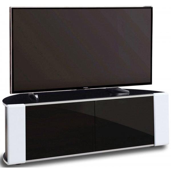 MDA Designs Sirius 1200 Black and White Corner TV Cabinet